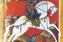 Sv. Đorđe / Gnev, štampa na papiru na drvenoj dasci, 21x30cm, 2006.