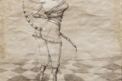 Histerija, 30x40cm, olovka i akril na papiru, 2016.