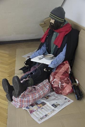 'Umetnik u gladovanju', instalacija, 2020